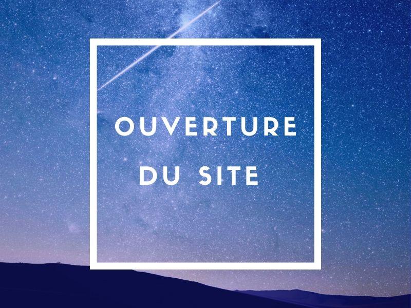 Ouverture du site