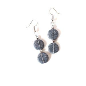 Boucles d'oreilles GRAINES DE COMÈTES – Granit