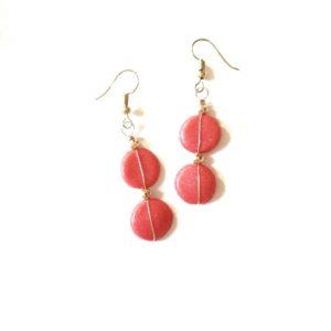 Boucles d'oreilles GRAINES DE COMÈTES – Rouge