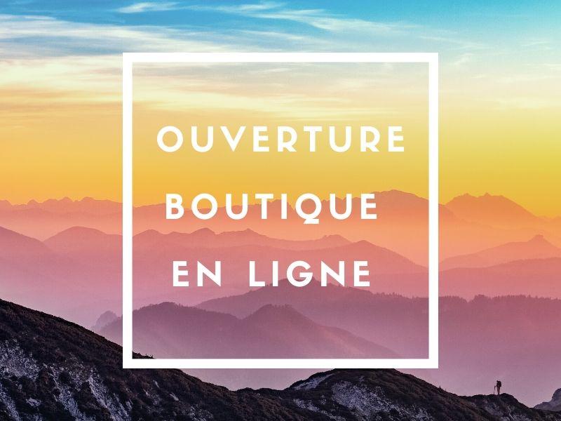 Ouverture boutique en ligne