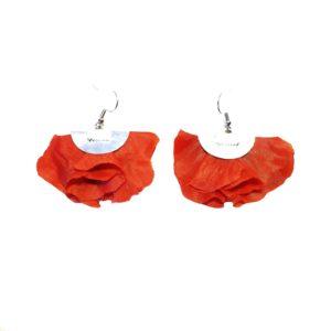 Boucles d'oreilles FLORES - Rouge