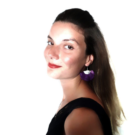 Boucles d'oreilles FLORES - Violet