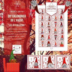 DIY calendrier de l'avent #01 – Collection – Les joyeux lutins – modèle rouge